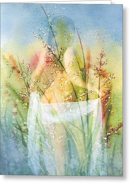 Soft Light Mixed Media Greeting Cards - Love Me In The Misty Dawn Greeting Card by Georgiana Romanovna