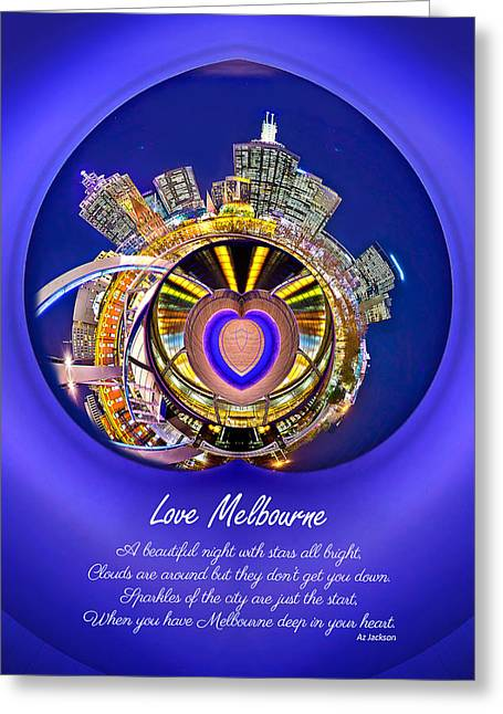 Love Poetry Greeting Cards - Love Melbourne Greeting Card by Az Jackson