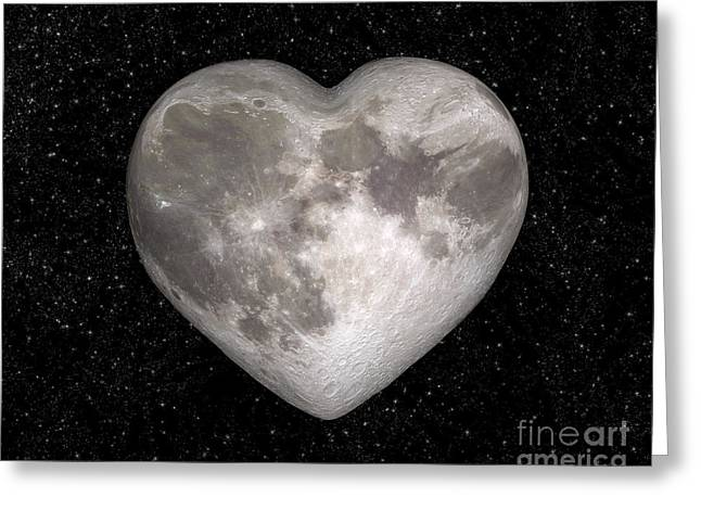 Mother Gift Greeting Cards - Love moon Greeting Card by Delphimages Photo Creations