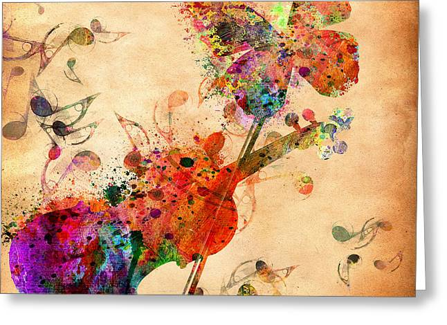 Jamming Greeting Cards - Love Music  Greeting Card by Mark Ashkenazi