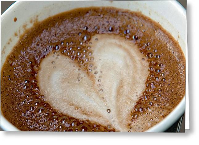 Take-out Photographs Greeting Cards - Love My Coffee Greeting Card by Art Block Collections