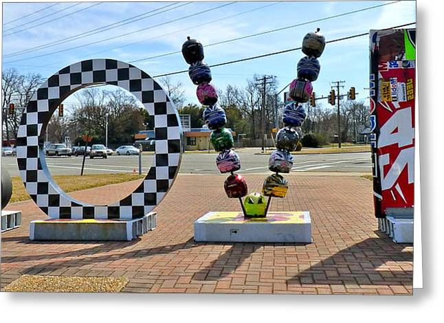 Racecar Number Greeting Cards - Love NASCAR Greeting Card by Jean Doepkens Wright