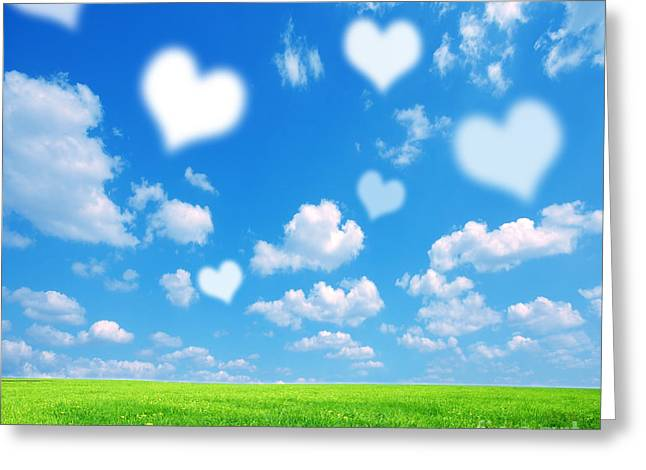 Love Nature Background Greeting Card by Michal Bednarek