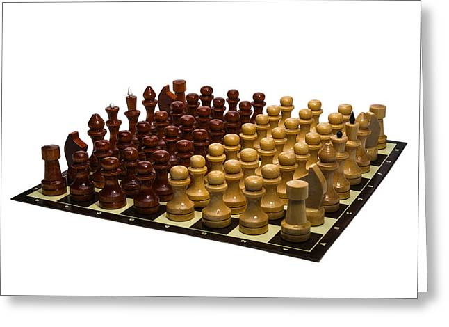 Chess Rook Greeting Cards - Love - Not War - Featured 3 Greeting Card by Alexander Senin