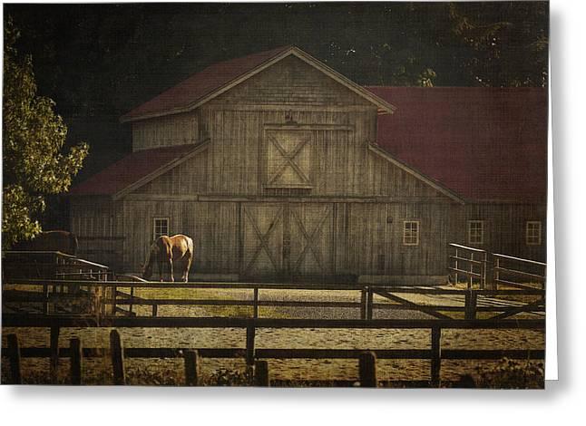 Love Of Country Vintage Art By Jordan Blackstone Greeting Card by Jordan Blackstone