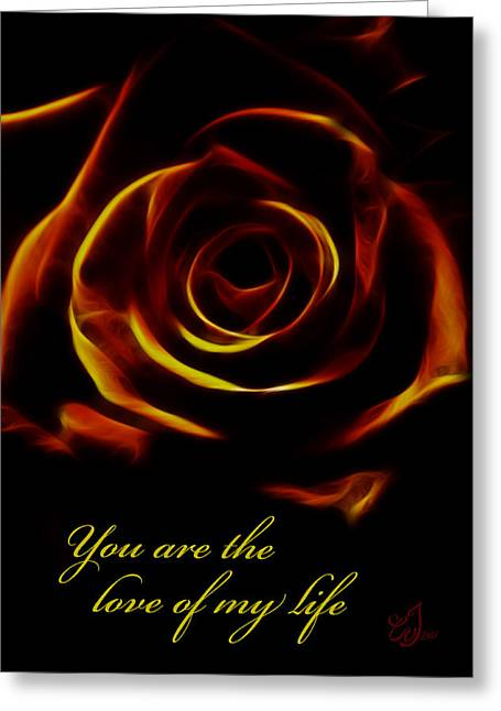 Special Occasion Digital Art Greeting Cards - Love of my Life Greeting Card by Music of the Heart