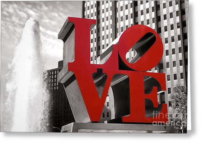 Philly Greeting Cards - Love Greeting Card by Olivier Le Queinec