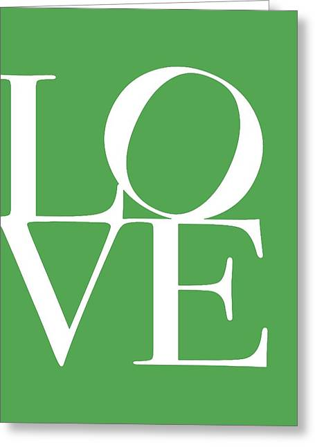 Love Letter Greeting Cards - Love On Green Greeting Card by Dan Sproul