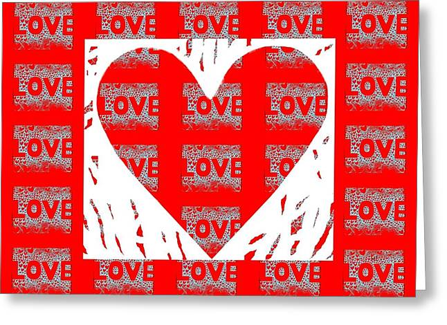 With Love Mixed Media Greeting Cards - Love On Love Greeting Card by Helena Tiainen
