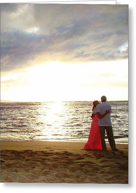 Wife Greeting Cards - Love On The Beach Greeting Card by Melinda Baugh