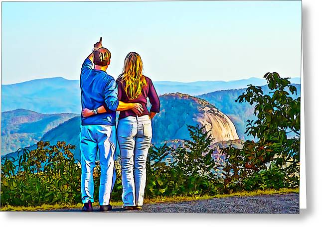 Love Asheville Greeting Cards - Love on the Rock Greeting Card by John Haldane