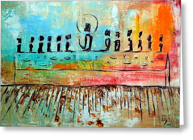 Prayer Paintings Greeting Cards - Love One Anoher Greeting Card by Ivan Guaderrama