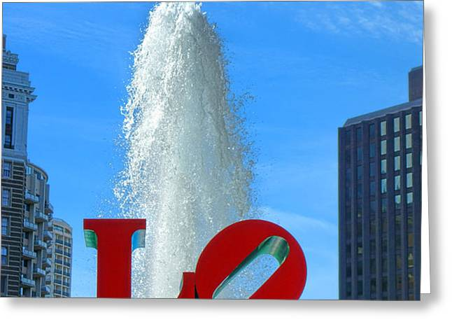 LOVE Park Greeting Card by Olivier Le Queinec