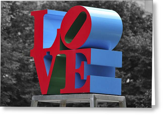 Indiana Photography Greeting Cards - Love Park Philadelphia Greeting Card by Terry DeLuco
