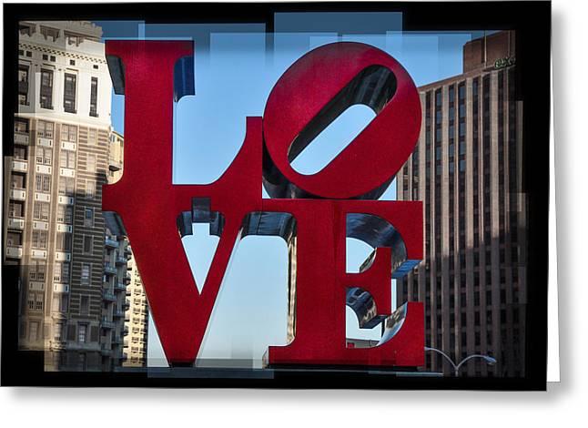 Philadelphia Park Greeting Cards - Love - Philadelphia Greeting Card by Bill Cannon