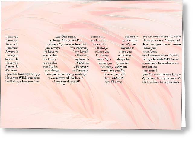Will You Marry Me Greeting Cards - Will You Marry Me? Hidden message 3 Greeting Card by Christine Aylen