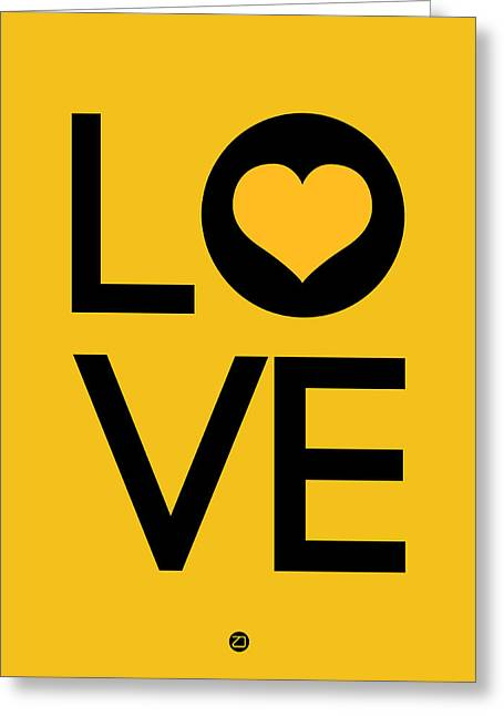 Famous Digital Art Greeting Cards - Love Poster 1 Greeting Card by Naxart Studio
