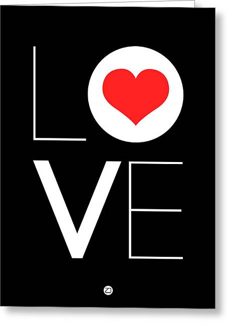 Red Art Greeting Cards - Love  Poster 7 Greeting Card by Naxart Studio