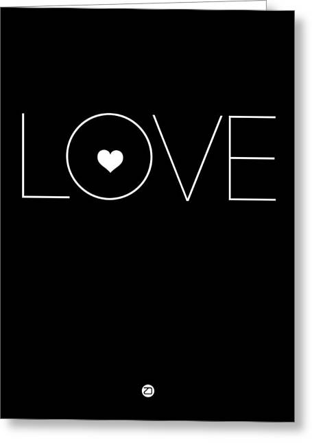 Music Lover Digital Greeting Cards - Love Poster Black Greeting Card by Naxart Studio