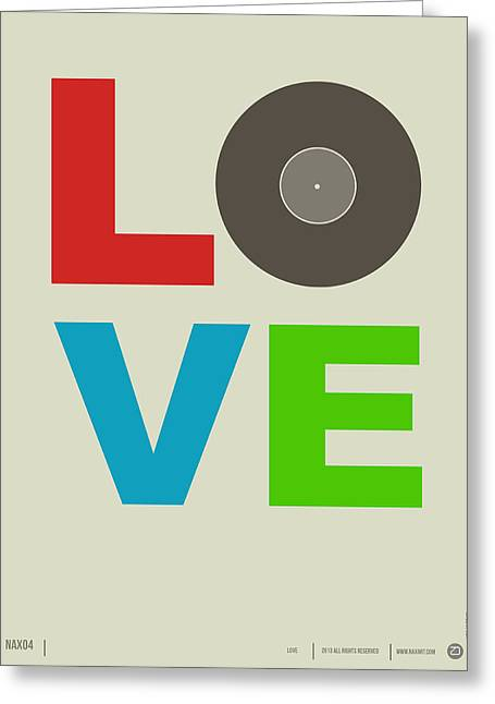 Brainy Greeting Cards - Love Poster Greeting Card by Naxart Studio