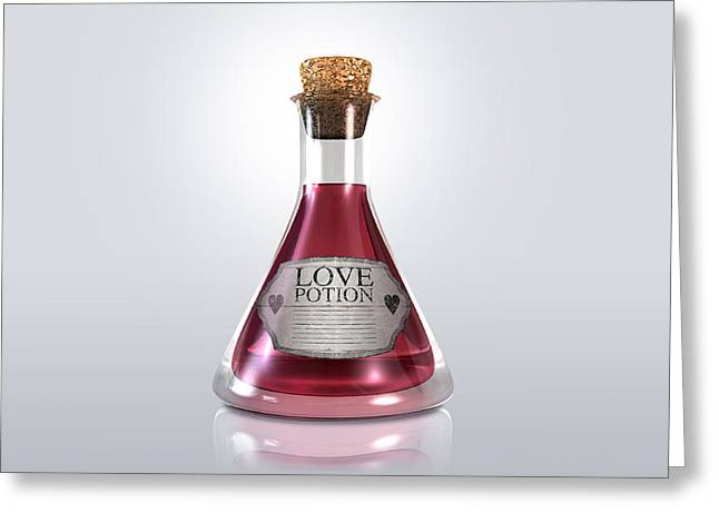Attractiveness Greeting Cards - Love Potion Greeting Card by Allan Swart