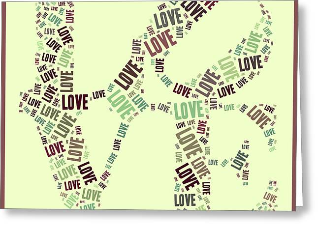 Love Quatro - Gr01b Greeting Card by Variance Collections