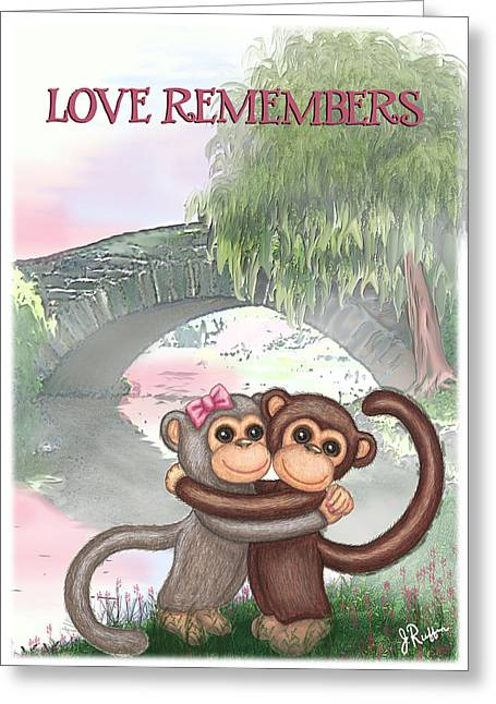 Jer Greeting Cards - Love Remembers Greeting Card by Jerry Ruffin