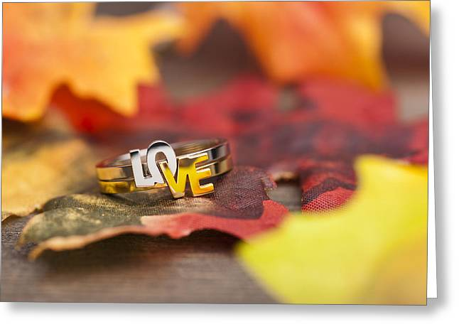 Wedding Reception Greeting Cards - LOVE ring Greeting Card by Ulrich Schade