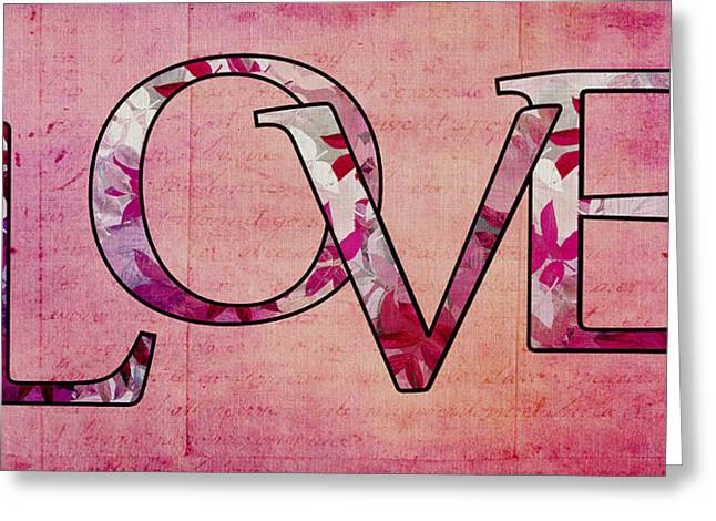 Amour Greeting Cards - LOVE - s0103t Greeting Card by Variance Collections