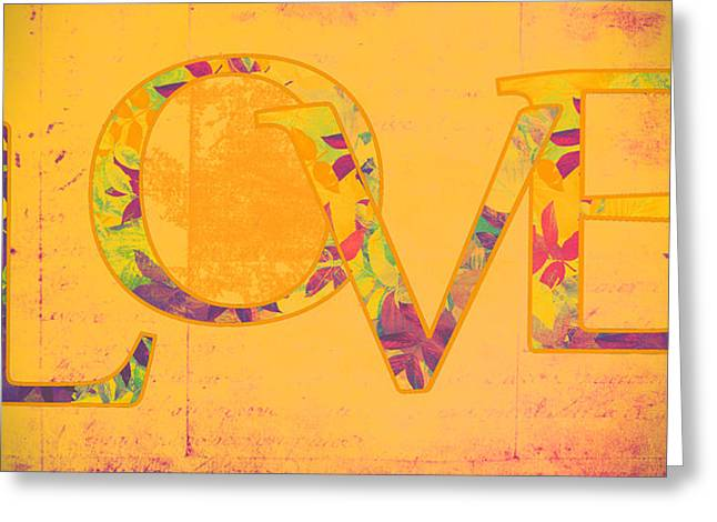 Amour Greeting Cards - LOVE - s07-01tg01 Greeting Card by Variance Collections