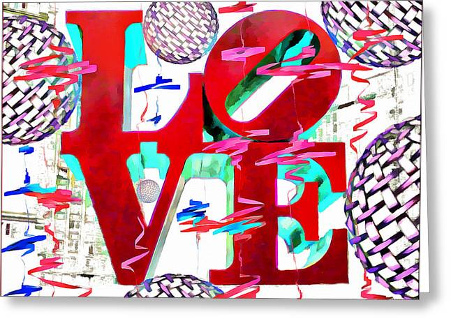 """jfk Plaza"" Greeting Cards - Love - Sculpture Greeting Card by Daniel Janda"