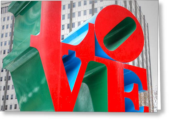 Philly Greeting Cards - LOVE Sculpture Greeting Card by Jennifer Lyon