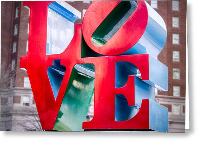 """robert Indiana"" Greeting Cards - Love Sculpture Greeting Card by Jerry Fornarotto"