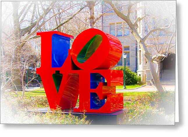 Love Sculpture - Penn Campus Greeting Card by Louis Dallara
