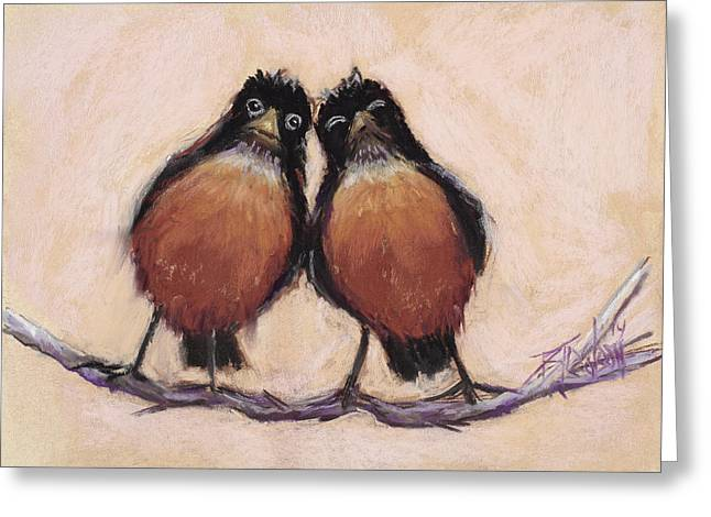 Couple Pastels Greeting Cards - Love Sick  Greeting Card by Billie Colson