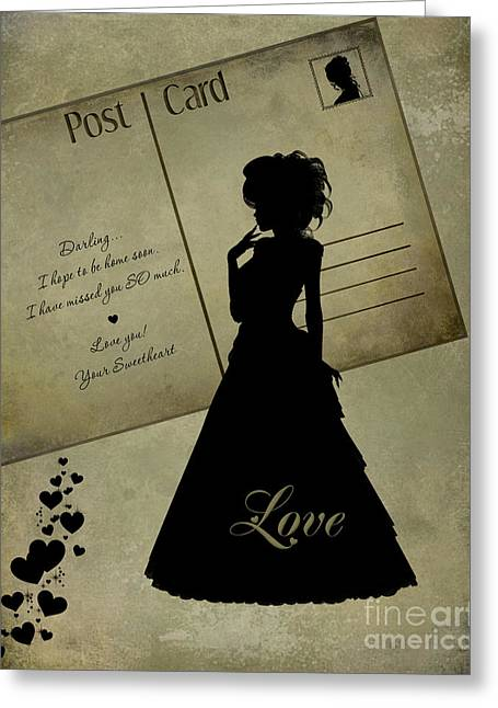 Becky Digital Greeting Cards - Love Silhouette PhotoArt Greeting Card by Becky Hayes