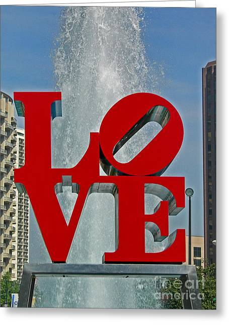 Penna Greeting Cards - Love Greeting Card by Skip Willits