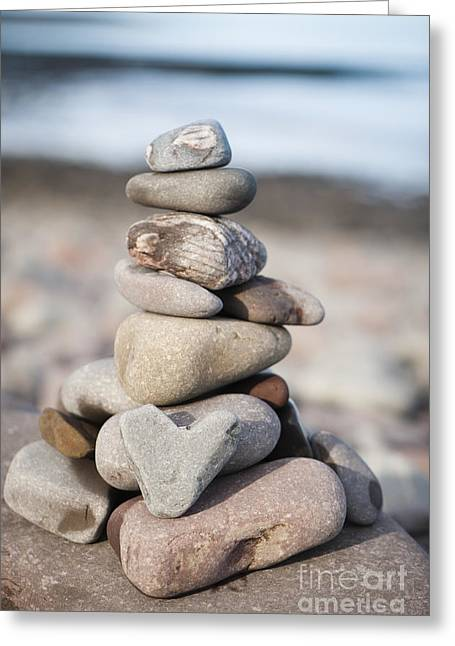 Love Stack Greeting Card by Anne Gilbert