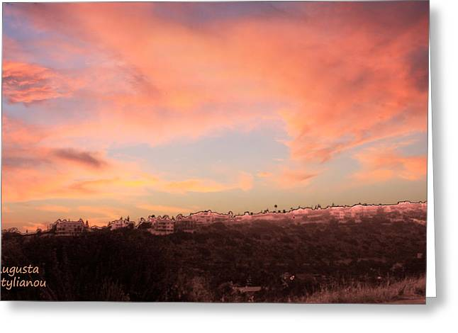Love Sunset Greeting Card by Augusta Stylianou
