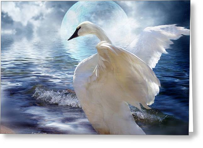 Wildlife Art Greeting Cards Greeting Cards - Love Swept Greeting Card by Carol Cavalaris