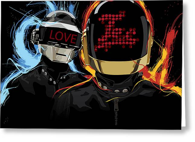 Daft Punk Greeting Cards - Love Tec Greeting Card by Tecnificent