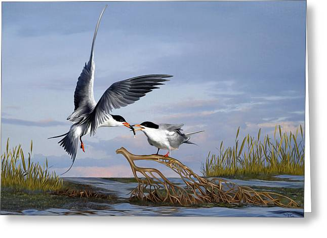 Tern Digital Art Greeting Cards - Love Greeting Card by Thanh Thuy Nguyen