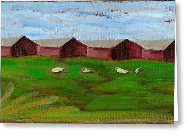 Sonoma County Paintings Greeting Cards - Love the Country - SOLD Greeting Card by Nancy Woods