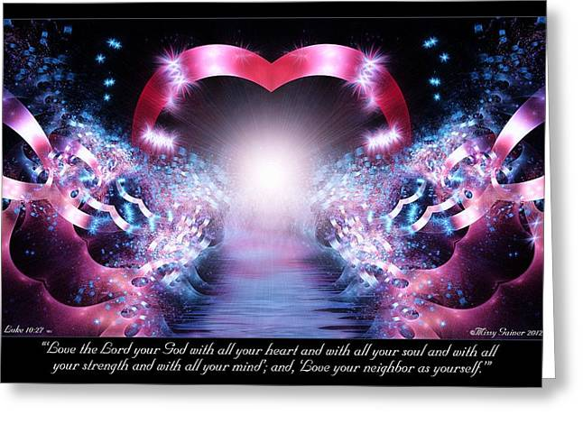 Nature Abstract Greeting Cards - Love the Lord Greeting Card by Missy Gainer