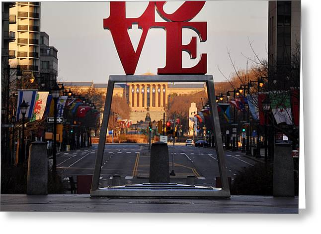 Phila Digital Greeting Cards - Love the Parkway Greeting Card by Bill Cannon