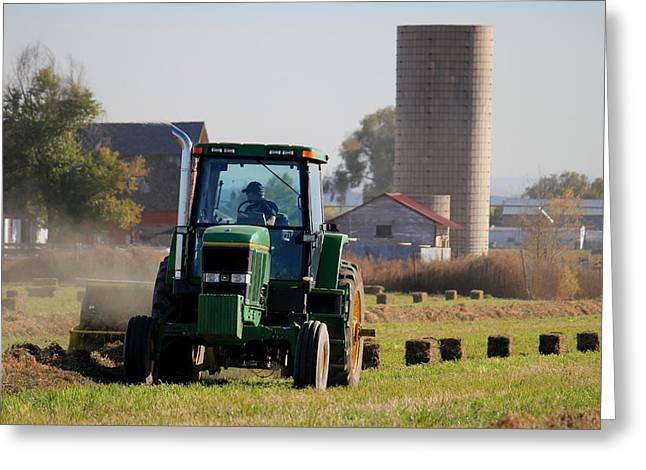 Bailing Hay Greeting Cards - Love The Smell Of Hay Greeting Card by Trent Mallett