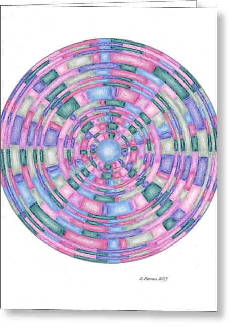 Sacred Drawings Greeting Cards - Love Thy Self Template Greeting Card by Ruthie Ferrone