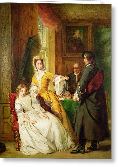 Refuse Greeting Cards - Love Token Greeting Card by William Powell Frith