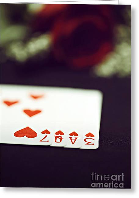 Loser Greeting Cards - Love Trick Greeting Card by Trish Mistric
