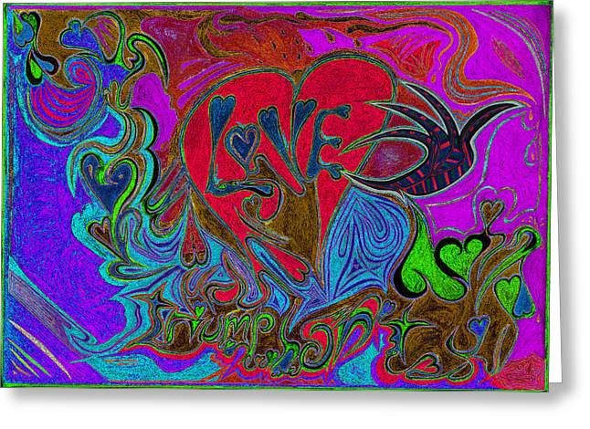 Mind Freedom. Art Therapy Greeting Cards - Love Triumphant 2nd Of 3 V4 Greeting Card by Kenneth James